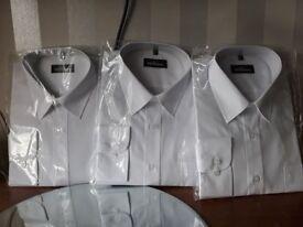 NEW 3x mens white shirts