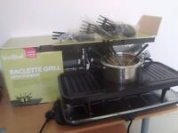 VONSHEF RACLETTE GRILL WITH FONDUE BRAND NEW!!