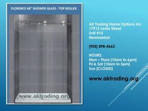 FRAMELESS SLIDING GLASS DOORS FOR SHOWER & BATHTUB