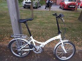 Folding bike, street bike , white