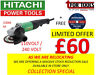 "Hitach Grinder Power Tools Special - 9"" / 230mm Collection Special Just 2minutes Off M1 Junction 10 Lurgan, Belfast"