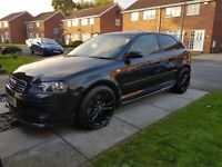 "AUDI A3 3.2 QUATTRO 2004 RARE GOLF R32 ENGINE MODEL 6 SPEED 260 BHP 4X4 18"" ALLOYS HPI CLEAR"