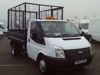 Ford Transit T350 S/CAB CAGED TIPPER 100PS DIESEL MANUAL WHITE (2013)