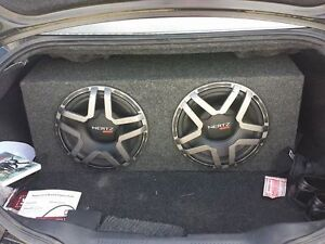 Two Hertz 12 inch subs with enclosure and shields Cambridge Kitchener Area image 1