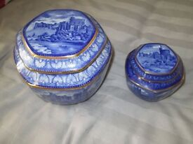 Ringtons Tea- Blue,Gold, Windsor Tea & Sugar Caddys