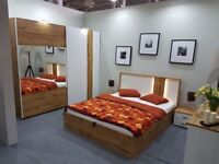 VOSS - 5 piece bedroom furniture set with king size bed. Delivery available