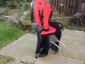 Children's rear bike seat