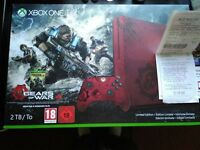 Limited edition Gears of war Xbox one s console