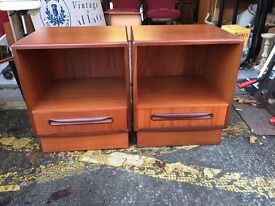 Gorgeous Pair of Mid Century G Plan Fresco Bedside Cabinets