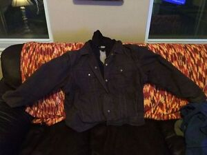 Men's Washed Canvas Sherpa-Lined Hooded Jacket Cornwall Ontario image 1