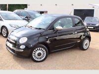 2010 FIAT 500 1.2 BLACK, MOT 12 MONTHS, PARKING SENSORS, £20 TAX, HPI CLEAR