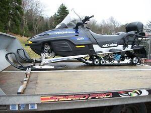 2005 Tilt Deck Double Snowmobile Trailor ( SOLD )