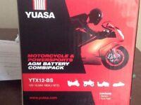 YUASA YTX12-BS Motorcycle Battery