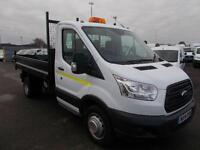 Ford Transit 2.2 Tdci Chassis Cab Tipper DIESEL MANUAL WHITE (2014)