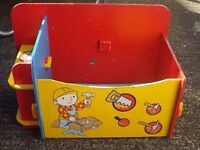 2 Childrens Toy Boxes Toyboxes, Cars Lightning McQueen & Bob The Builder