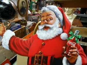Grand Père Noël de Magasin Coca Cola