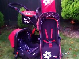 cosatto girly travel system