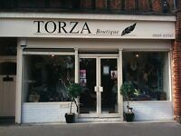 Two rooms to rent in a busy boutique