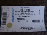 2 x Guns n roses tickets for sale s