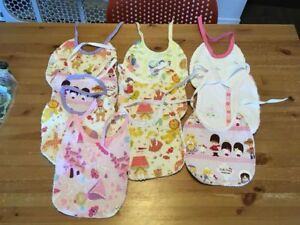 hand made 'vintage inspired' baby bibs