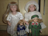 Old Knightsbridge Collection Dolls (4 of them)