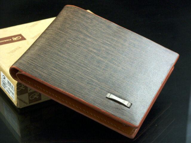 New Men's Leather Wallet Pockets Card Clutch Cente Bifold Purse Wholesale