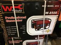 Wurzburg W-8500 professional petrol generator. Brand new!