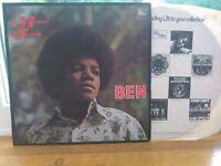 Michael Jackson BEN 1972 Original Soundtrack Record. EXCELLENT CONDITION.