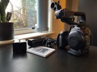Canon C100 (mk1) video camera + Atamos Ninja & 128gb CFast card, cary bag, charger and 2x Batteries.