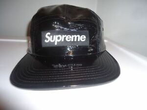 SUPREME BLACK Vinyl cap snap back, Brand new never worn!