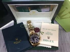ROLEX SUBMARINER BOXED WITH CARDS CERTIFICATE A,A,A