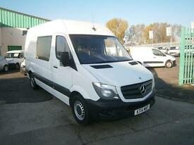 Mercedes-Benz Sprinter 313cdi mwb High Roof 130ps Crew New Shape DIESEL (2015)