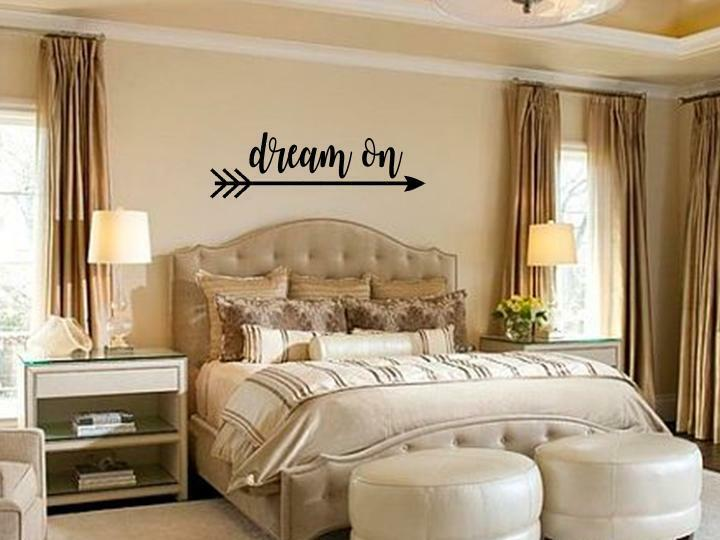 DREAM ON Bedroom Vinyl Wall Art Decal Sticker Decor