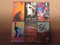 Job Lot of 6 VHs Video Tapes of U2