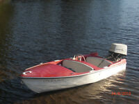 1950s small speed boat