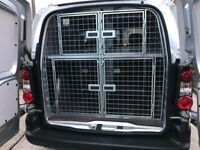 Peugeot Partner Diesel Van 2013 with Stainless Steel cages, lined floor ready to transport dogs.