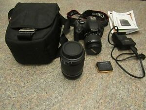 Canon Rebel T3i 18MP DSLR Camera with accessories