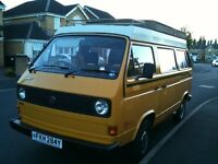 VW T25 Autohomes with freestanding awning