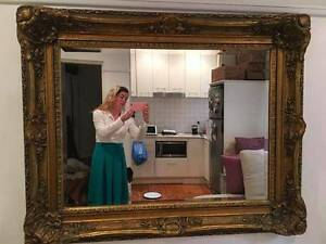 Large Gold Guilded Mirror Bondi Beach Eastern Suburbs Preview