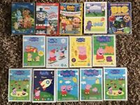 Kids DVD bundle x 14 - mainly Peppa Pig. vgc.