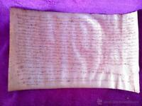 Pergamino Manuscrito, Donacion De Tierras Por D. Farrer De Carreras, Vic 1288 -  - ebay.es