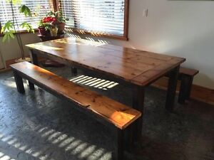 Handcrafted Harvest Tables