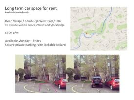 Private car park space for rent Edinburgh West End