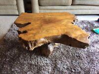 Oak Tree Stump Hand carved Coffee Table