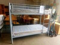 Brand new metal bunk bed frame (grey)