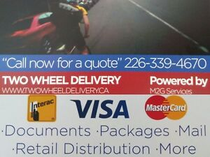 Two Wheel Delivery Bike Messengers Fast Safe Affordable Kitchener / Waterloo Kitchener Area image 1