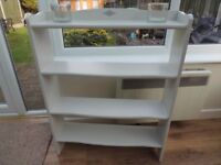 Solid Wood Satin Finish Book Case with detail.