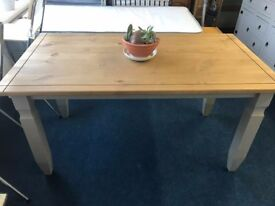 Mexican Pine grey dining table 5FT ex display can be delivered