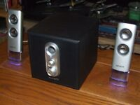 Set of Advent 2.1 Computer/Laptop Speakers with Sub-Woofer
