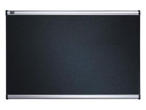 "Black Embossed Foam Bulletin Board, Aluminum Frame, 72"" x 48"""